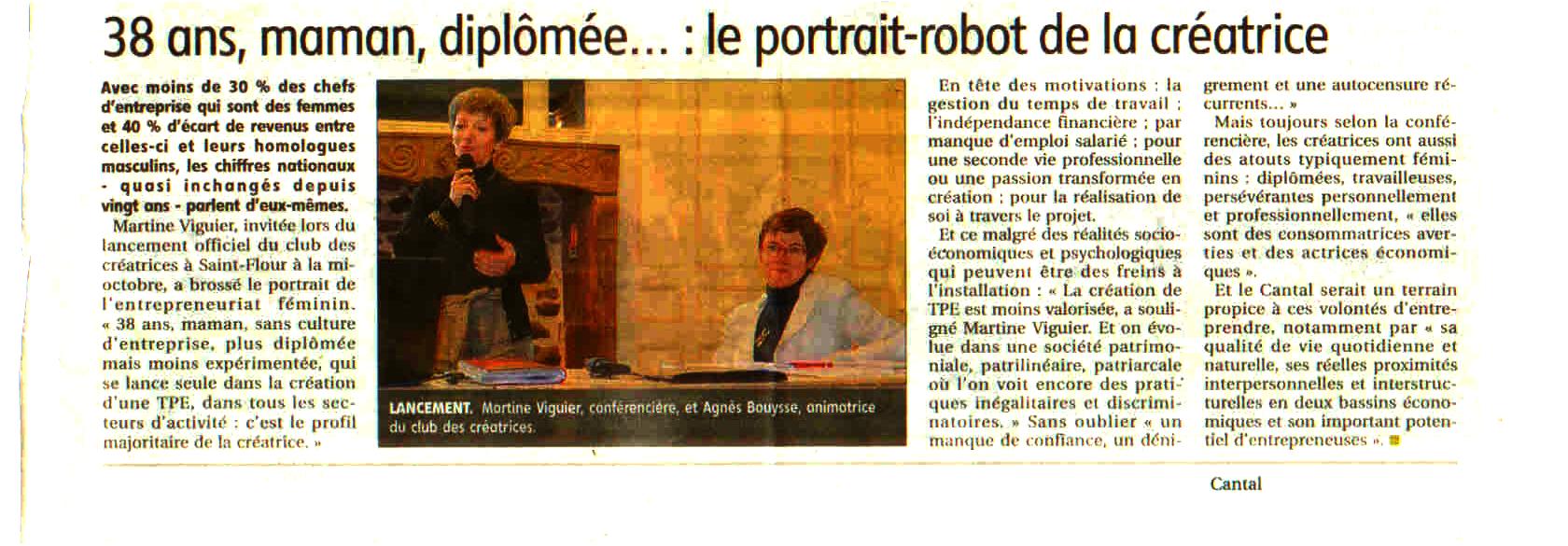 journal La Montagne, octobre 2013